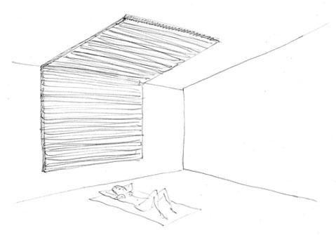 Bocetos y realización final de la exposición en Artium 2012